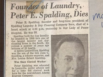 1957 – Peter Spalding Dies